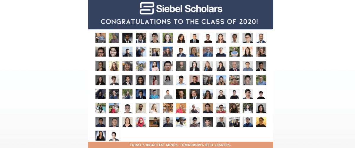 thumbnail image for Welcome Class of 2020 Siebel Scholars!