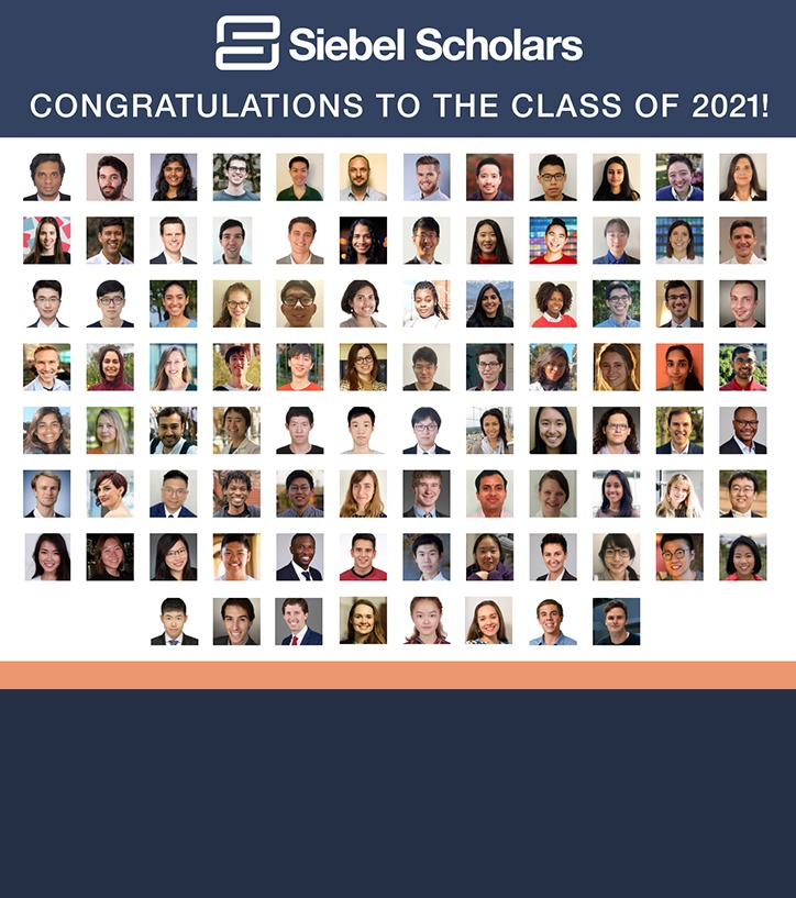 thumbnail image for Welcome Class of 2021 Siebel Scholars!