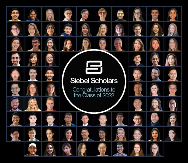 thumbnail image for Welcome Class of 2022 Siebel Scholars!